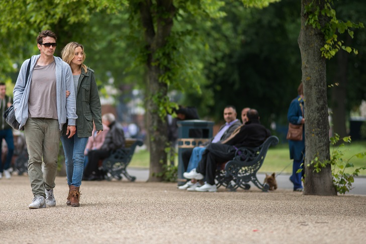 """Caption: James Franco and Kate Hudson in a scene from """"Good People."""" Photo from: Millennium Entertainment"""