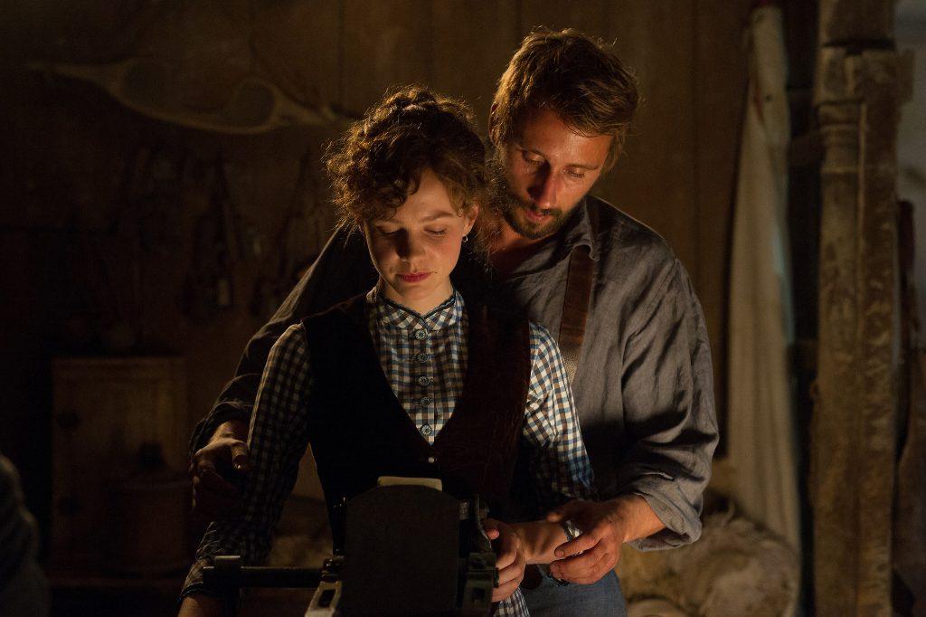 "Carey Mulligan as Bathsheba Everdeen and Matthias Schoenaerts as Gabriel Oak in a scene from ""Far From the Madding Crowd."""