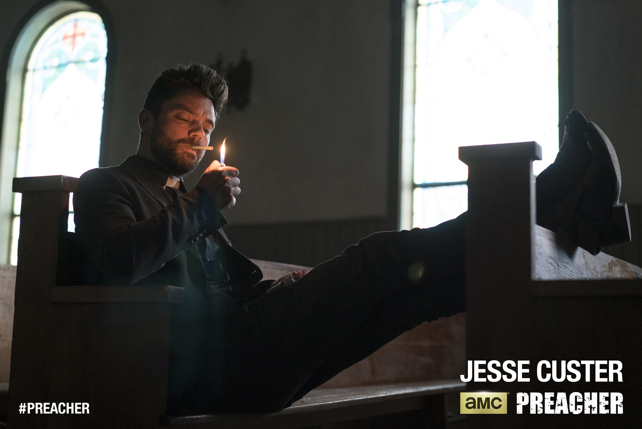 Dominic Cooper as Jesse Custer - Preacher _ Season 1, Episode  1 - Photo