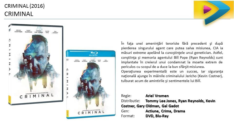 Criminal lansare DVD ProVideo