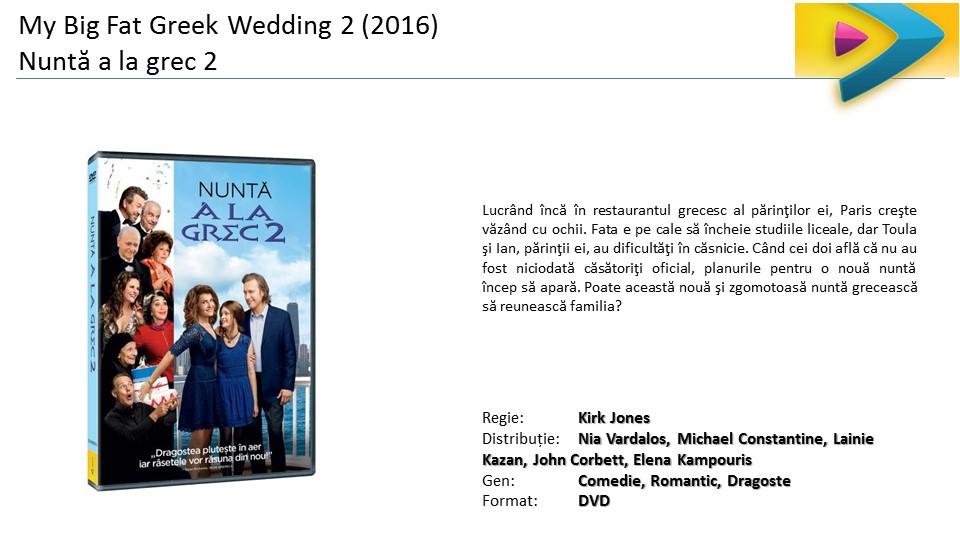 My Big Fat Greek Wedding 2 Nunta a la Grec 2 DVD