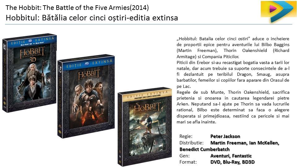 The Hobbit Hoobitul trilogie DVD