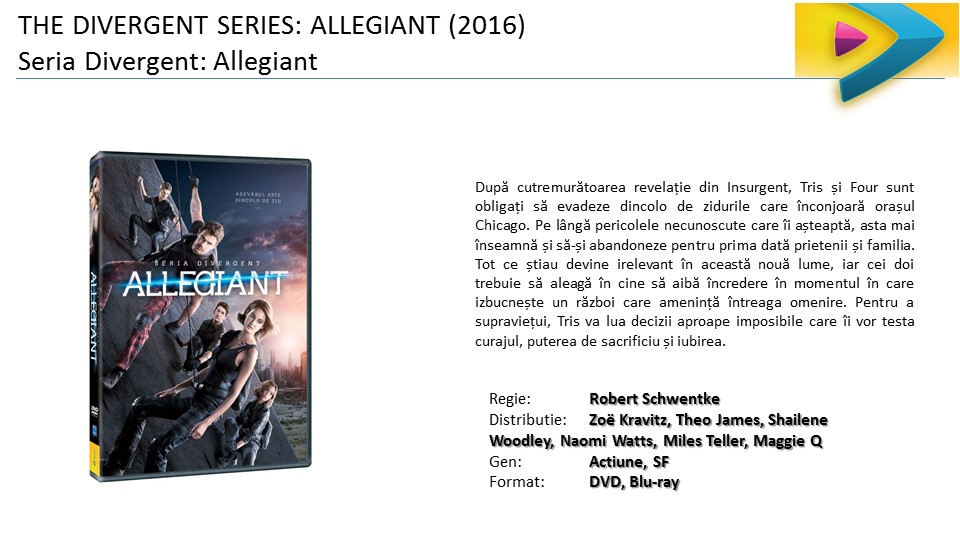 Divergent Allegiant film DVD